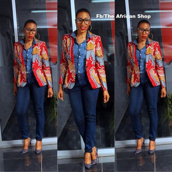 Image result for Ankara Blazers Styles