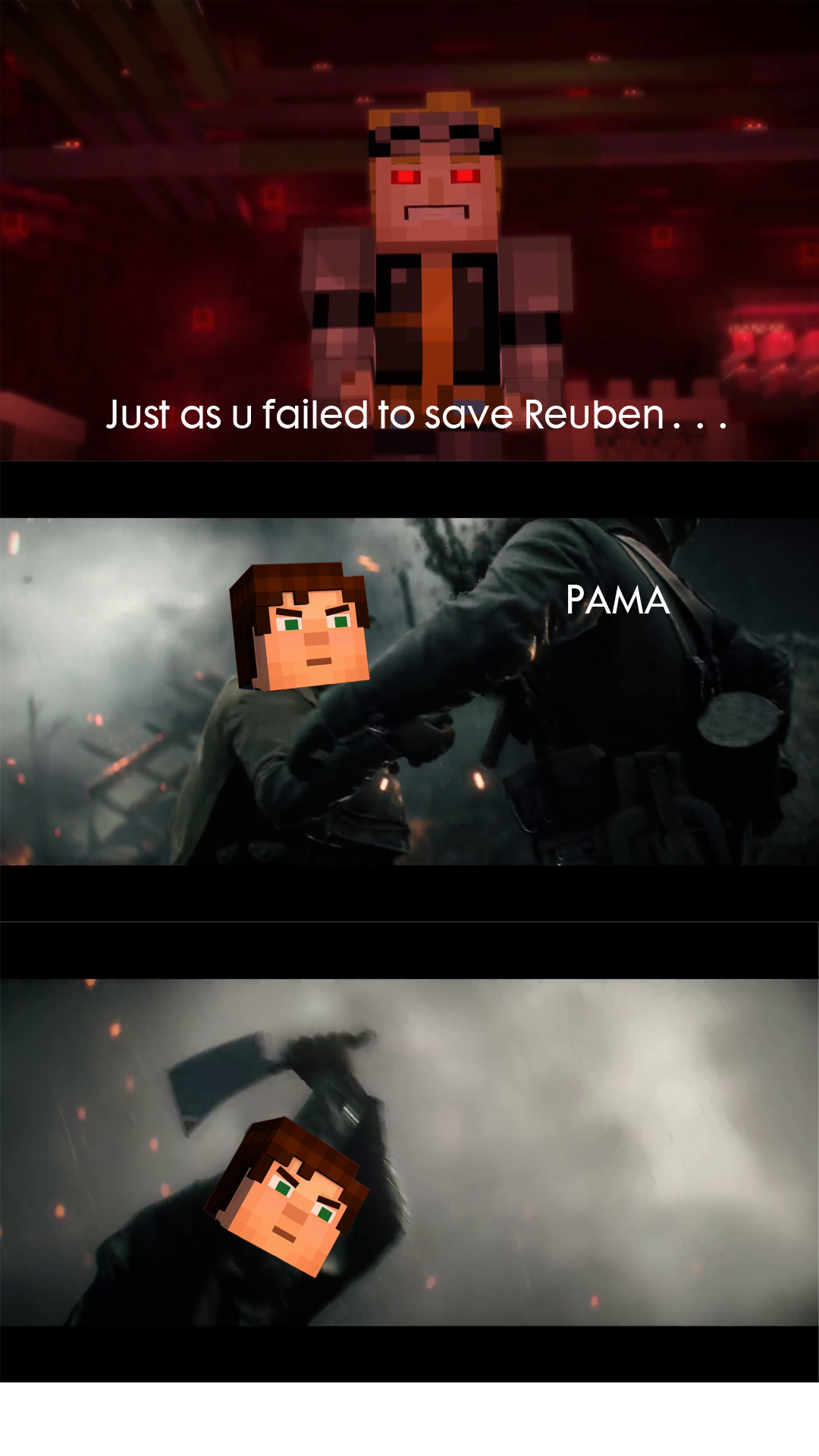 Minecraft Story Mode Meme And Fun Thread Mobile Warning