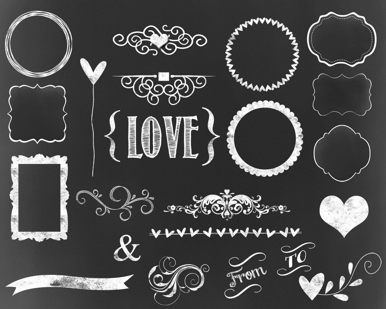 Popular Items For Chalkboard Flourish On Etsy Framed Chalkboard Chalkboard Labels Chalkboard Drawings