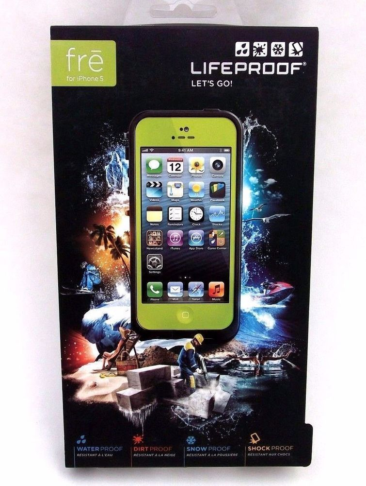 new concept 16498 eb9e2 New Authentic LifeProof Fre Waterproof, Shockproof Case for iPhone 5 ...