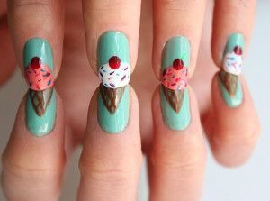 Nail designs that are perfect for summer summer fun pinterest ice cream cone nails cute nails diy ice cream cone nail art diy ideas do it yourself diy nails nail designs prinsesfo Images