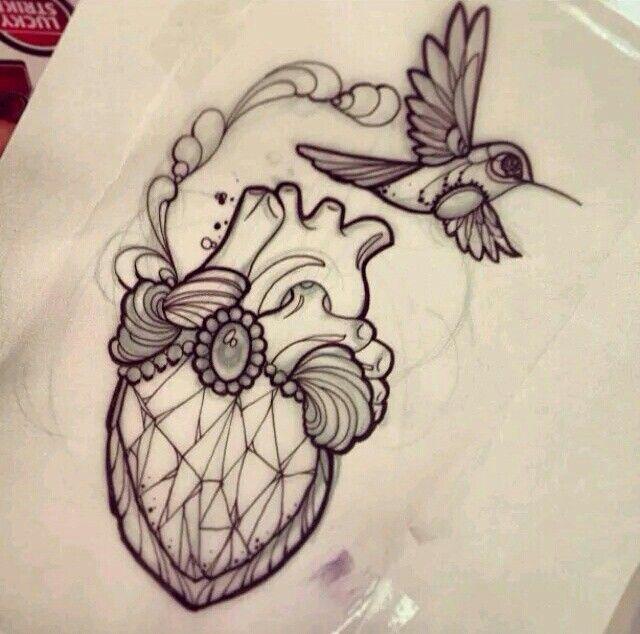 Neo traditional heart tattoo   I N K . I N S P I R A T I O ...
