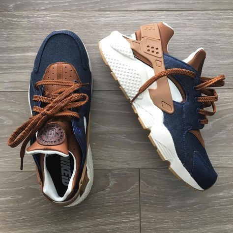 Nike Huarache Premium Denim iD from 2015. I requested premium materials from Nike so they added them. I made these and they made some soon after I did They released a denim air max classic BW and air max 95 with the exact same colorway.. Not the first time they used my idea on a release. credit tho @nike