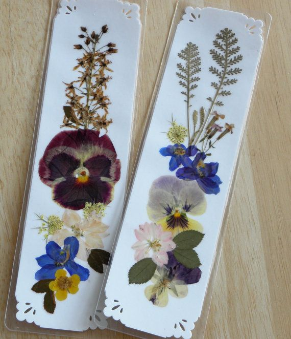 how to make a flower bookmark