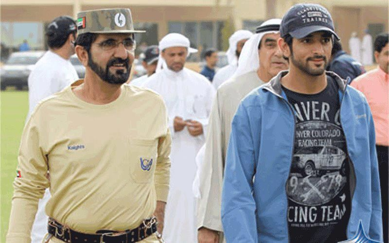Mohammed RSM and Hamdan MRM, the Dubai Crown Prince Endurance Cup at the Dubai International Endurance City, 24/03/2012