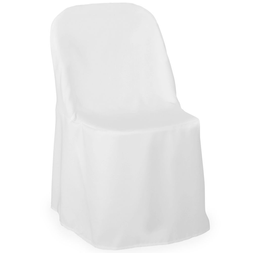 Folding chair covers wholesale under 1 - 1 White Folding Chair Cover Wedding Party Decorations