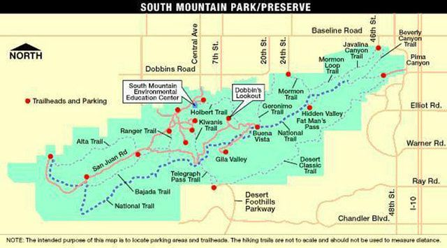 hit the trail at south mountain mountain park trail