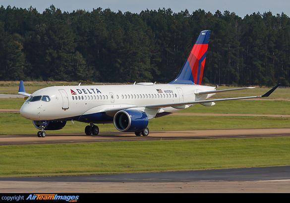 Delta Airlines Airbus A220100 Delta airlines, Airbus