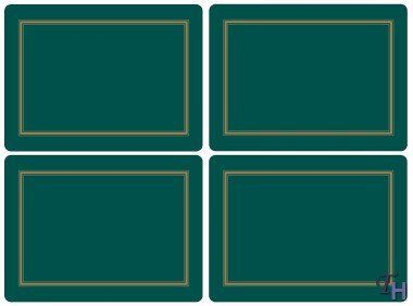 Pimpernel Classic Emerald Placemats - Set of 4 (Large) by Pimpernel ...