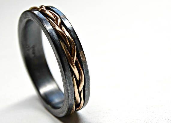 Mens Wedding Band Viking Celtic Wedding Ring Gold Braided Etsy In 2020 Mens Wedding Rings Engagement Rings Opal Celtic Wedding Rings
