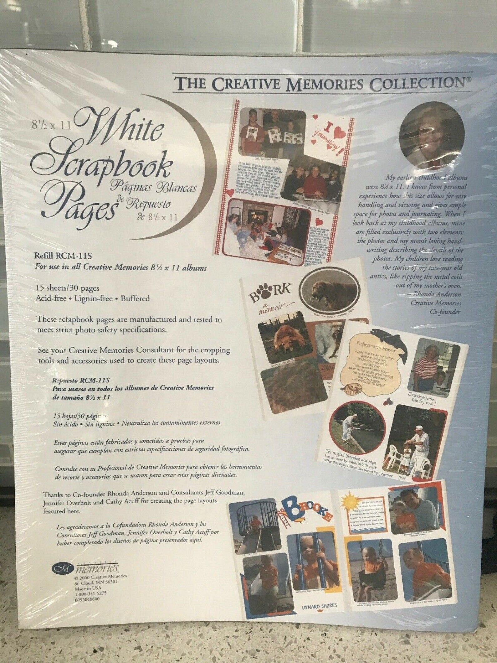 Creative memories white 85 x 11 30 pages 15 sheets rcm
