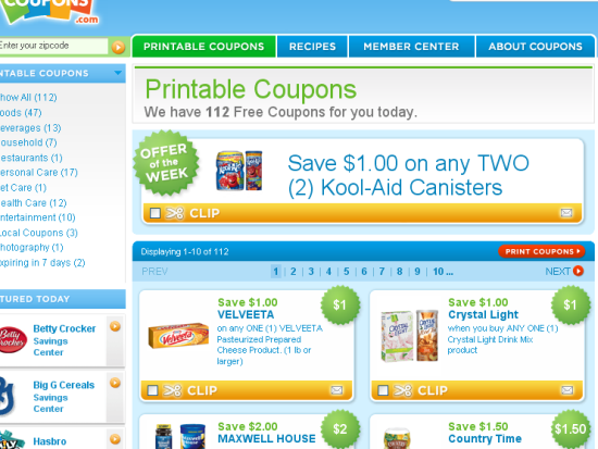 The Top 10 Grocery Coupon Websites For Cheapskates Favorite Places