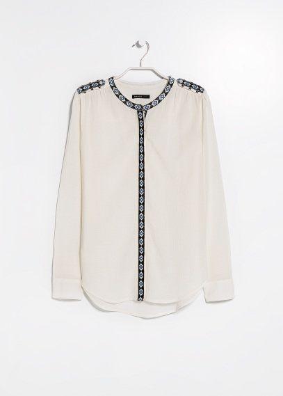 c0e889165f6c01 Hemd mit Ethno-Stickerei | mofa | Blusen und hemden, Stickerei, Bluse