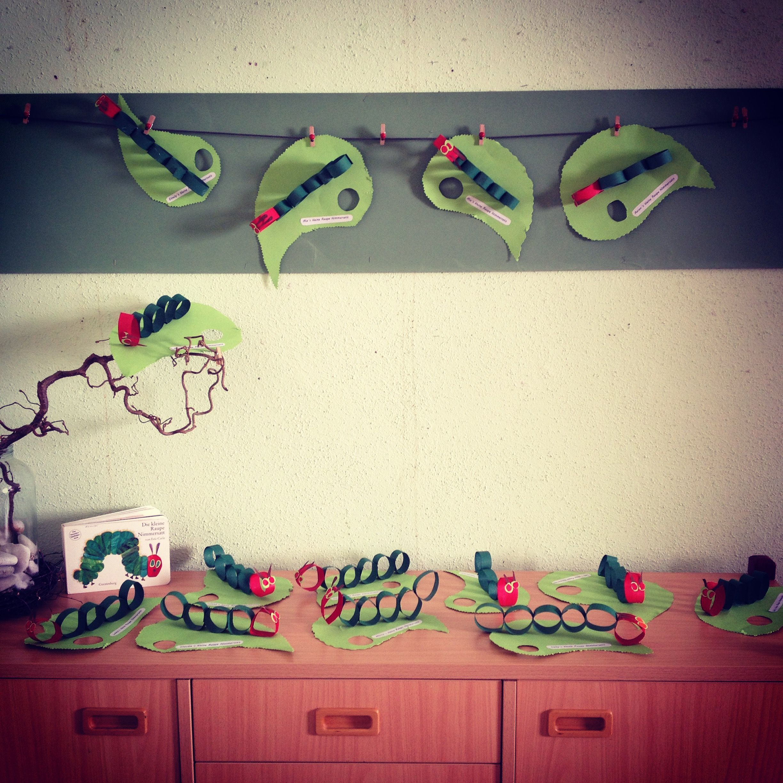 Raupe nimmersatt projekt kita pinterest raupe - Raupe basteln kindergarten ...