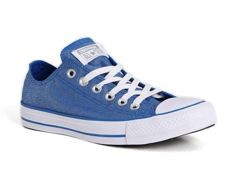 73db90b9446 Converse Chuck Taylor All Star Glitter Shoes in Blue 555820F | shoe love