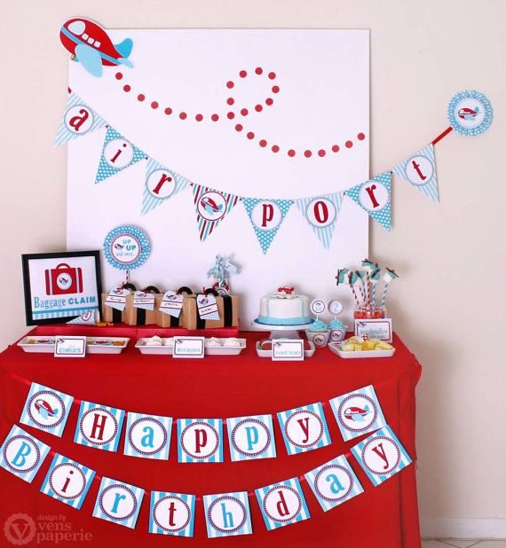 Airplane Party Package Personalized FULL Collection Set PRINTABLE