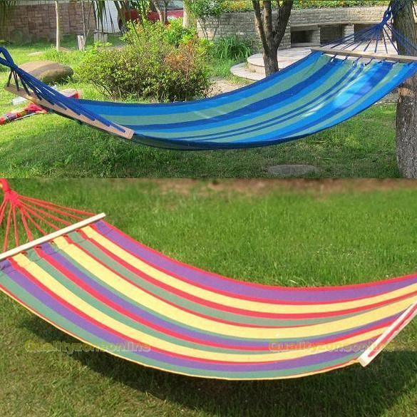 canvas fabric double spreader bar hammock outdoor camping swing hanging bed canvas fabric double spreader bar hammock outdoor camping swing      rh   pinterest