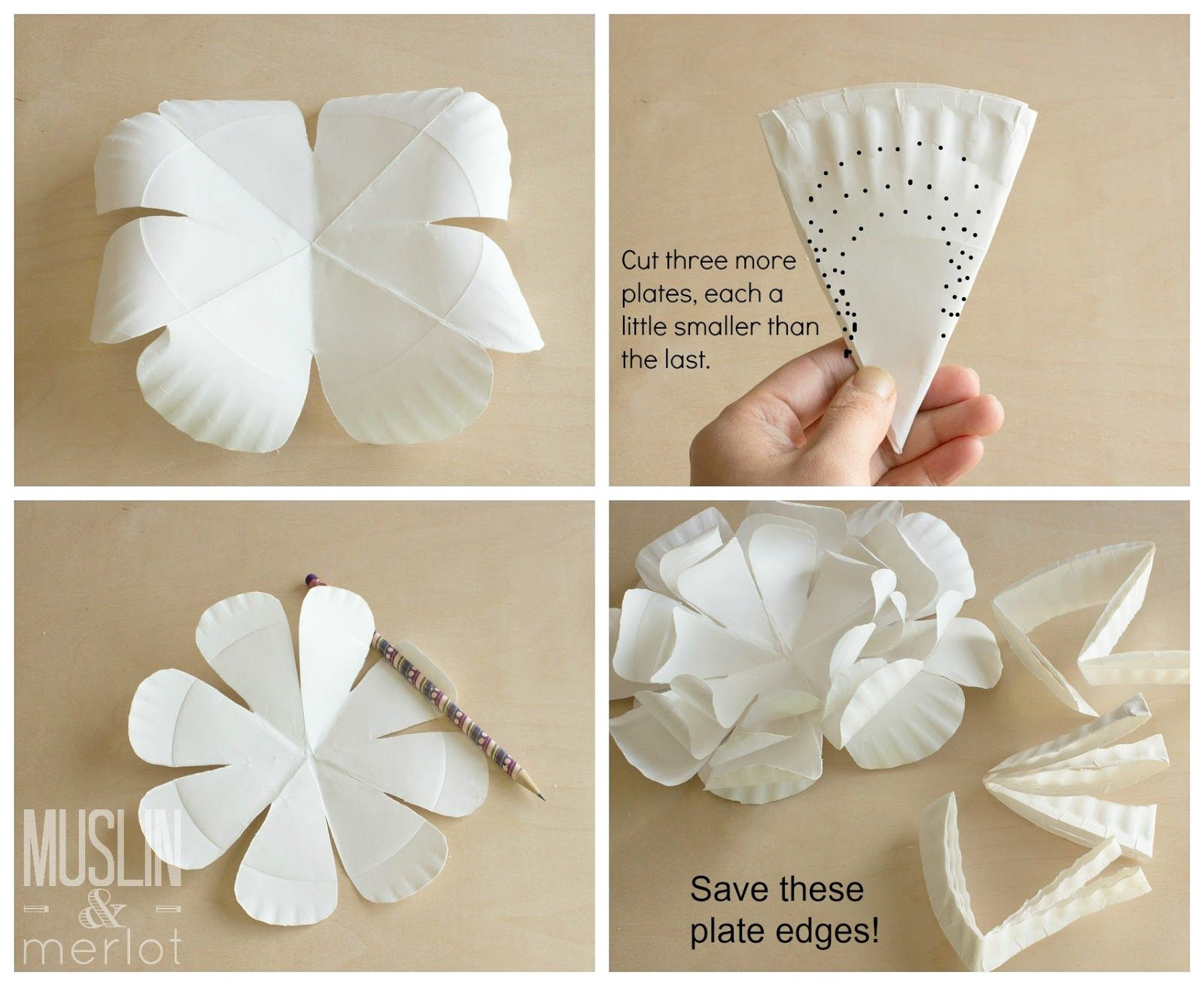 Paper Plate Flowers Flower Tutorial Tutorials And Flower