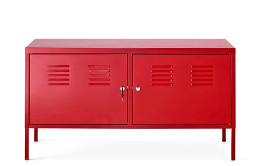 A Red Sideboard Cabinet Made Of Steel Opbergmeubel Meubel