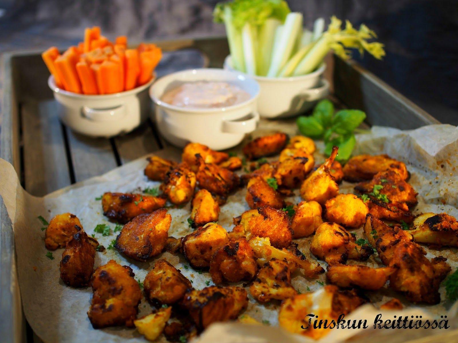 Chicken wings kukkakaalista / Tinskun keittiössä