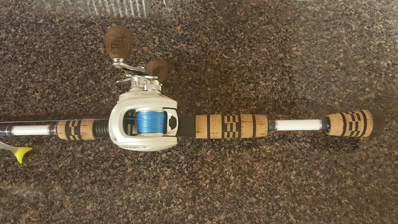 My Custom St Croix Legend Extreme Inshore and a 13 fishing concept C