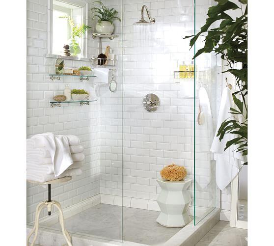Double Corner Shower Caddy, Polished Nickel finish   bathe ...