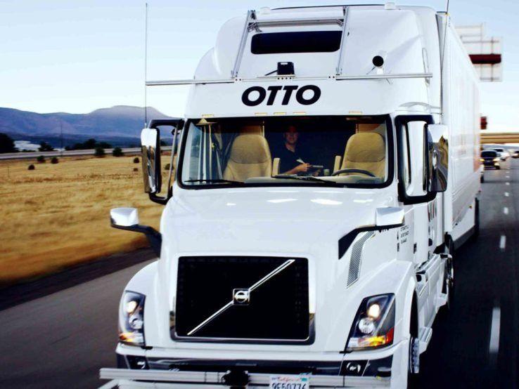 Sign in Self driving, Truck driver, Trucks
