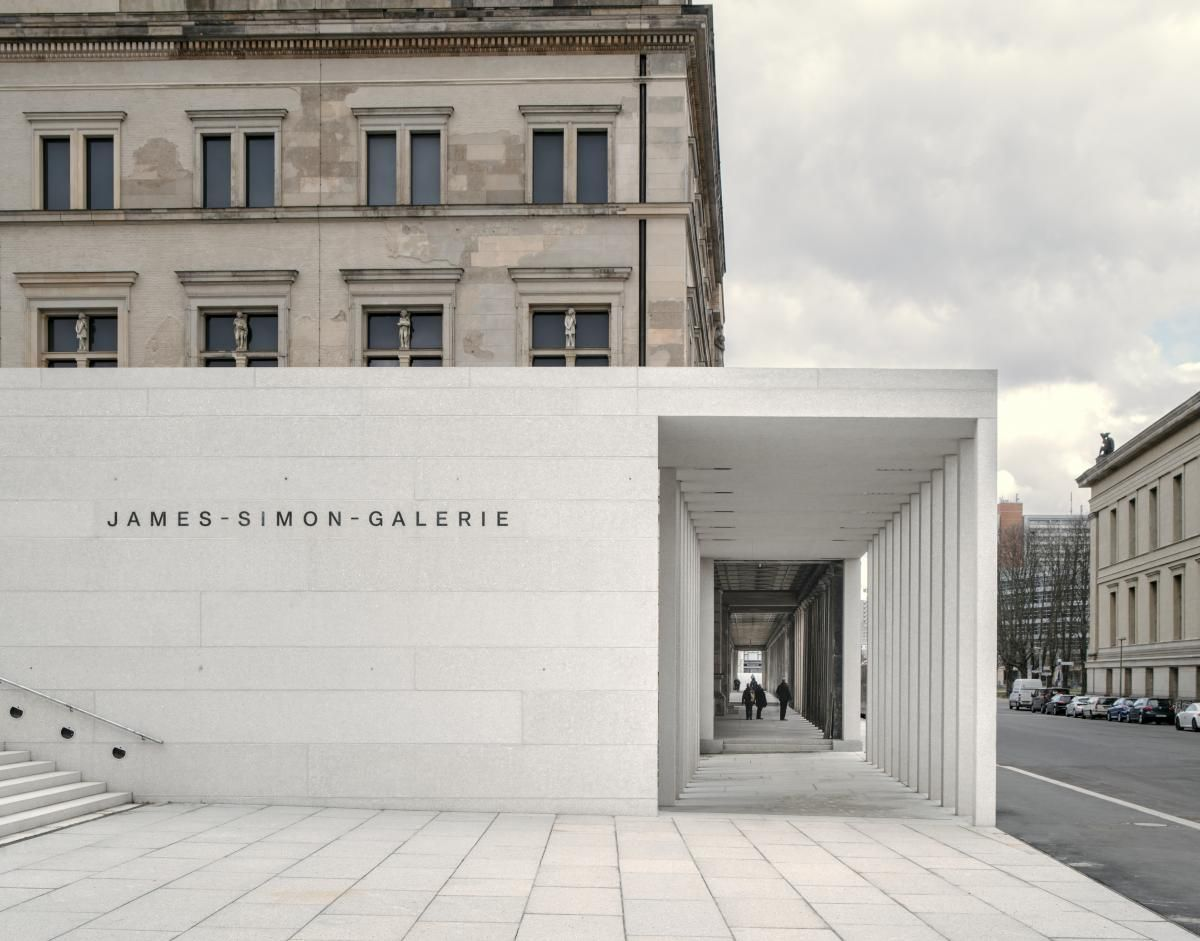 David Chipperfield Designed James Simon Galerie Opens On Museum Island In Berlin David Chipperfield Architects Modern Buildings Museum Island