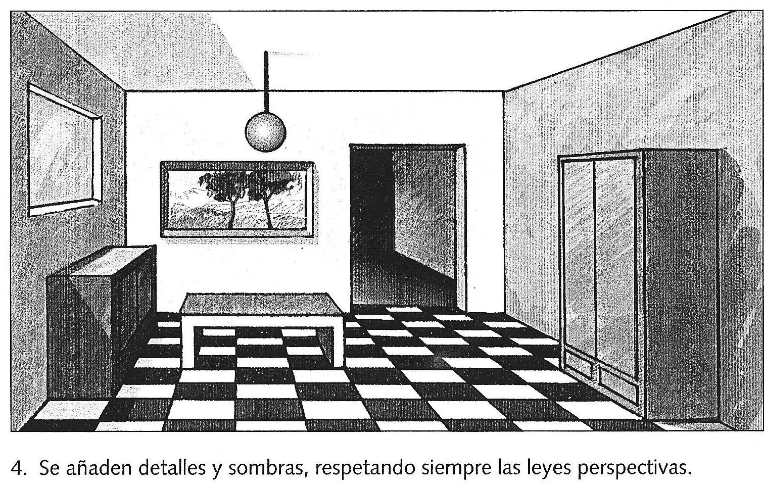 1512 966 conica pinterest perspectiva - Habitacion en perspectiva conica ...