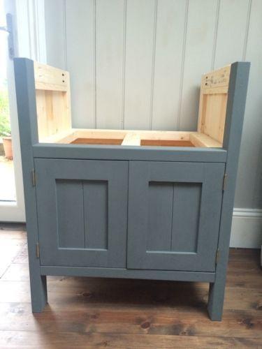 Belfast sink unit - solid wood -freestanding kitchen unit ...