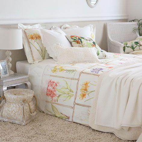 linge de lit imprim botanique linge de lit lit zara. Black Bedroom Furniture Sets. Home Design Ideas