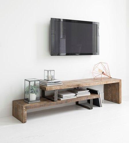 2 Tv Meubel.Tv Meubel 2 Planken Verlengbaar 45x160x40 Cm 6 Huiskamer Tv