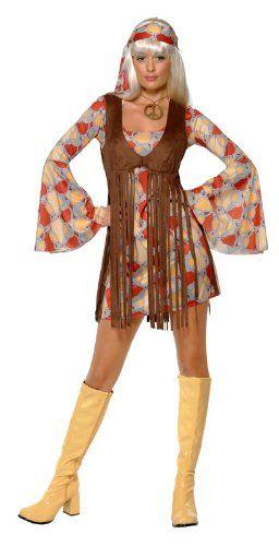 Smiffy s - Costume per travestimento da Hippy anni  60 e4971fe8824