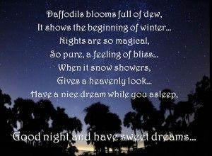 Winter Nights Are So Heavenly  C B Good Night Love Quoteswinter