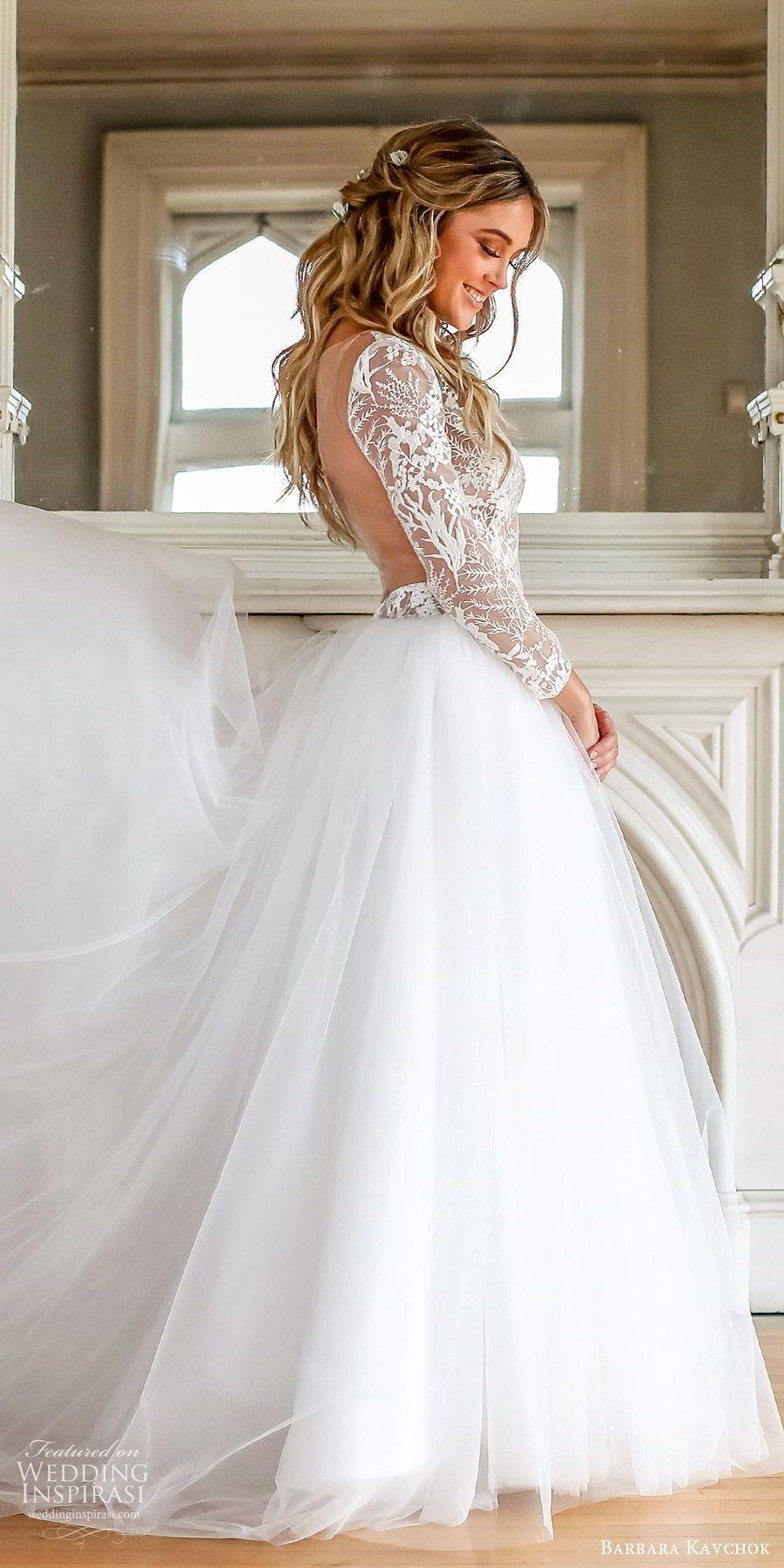 Barbara Kavchok Fall 2019 Wedding Dresses Wedding Inspirasi Lace Wedding Dress With Sleeves Ball Gown Wedding Dress Long Sleeve Wedding Dress Lace [ 1800 x 900 Pixel ]