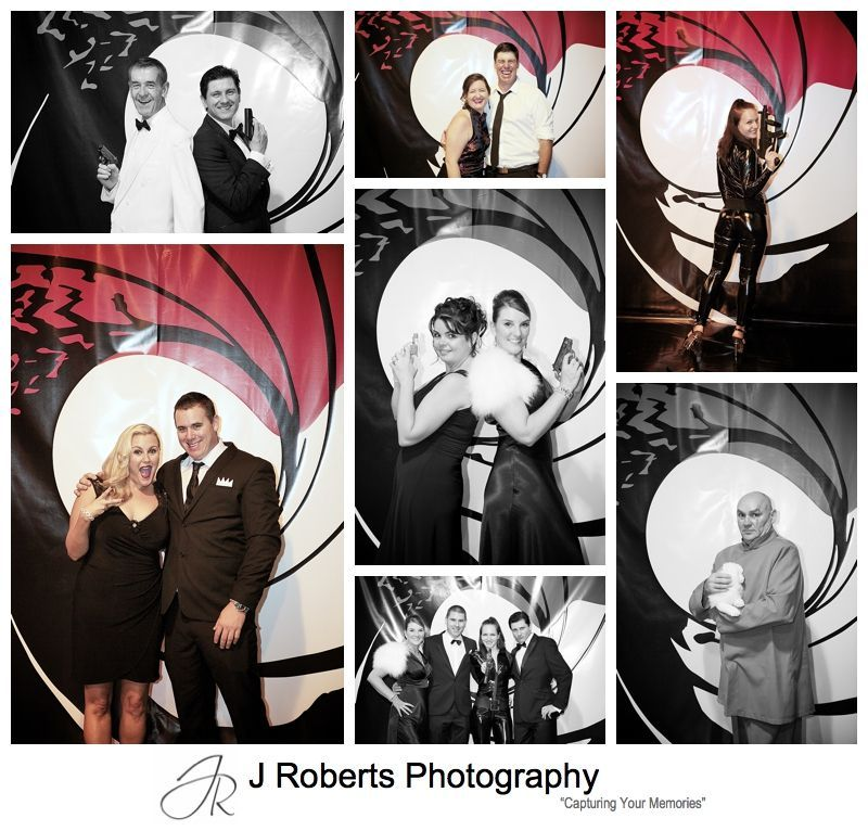 james bond theme wall backdrop at birthday party sydney. Black Bedroom Furniture Sets. Home Design Ideas