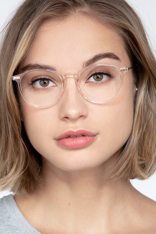 Photo of Amity – Round Rose Gold Frame Glasses For Women | EyeBuyDirect
