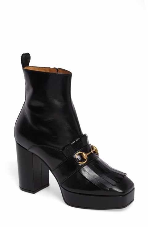 0eb02cf3d9fb Gucci Novel Square Toe Platform Bootie (Women)
