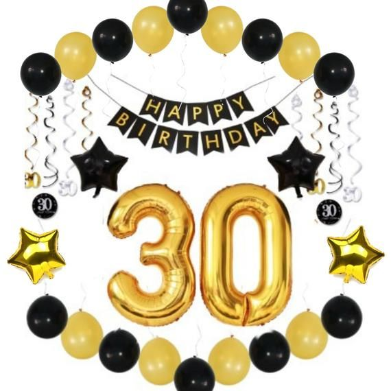 30th BIRTHDAY PARTY Balloons DECORATIONS Ideas Supplies