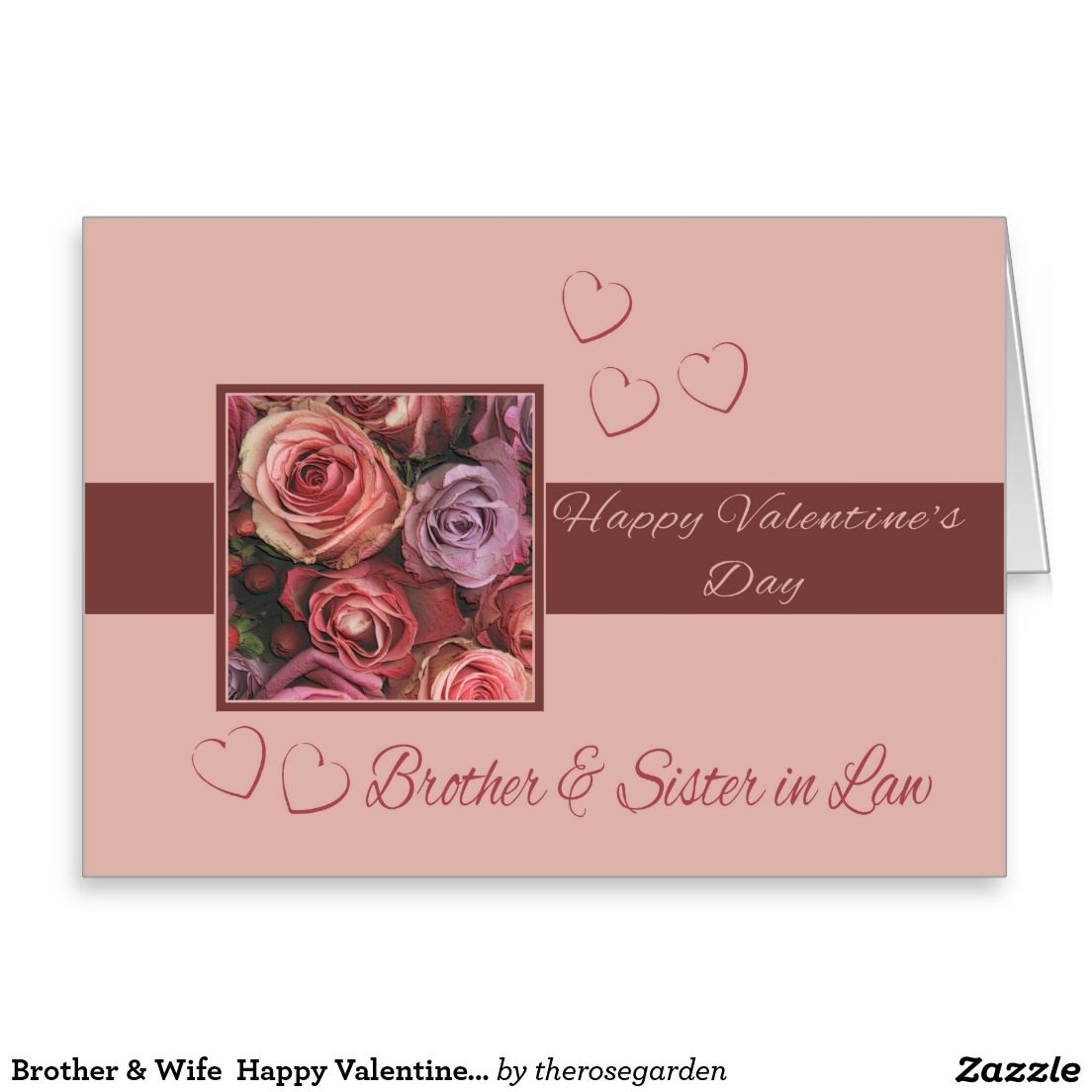 Brother Wife Happy Valentine S Day Roses Card