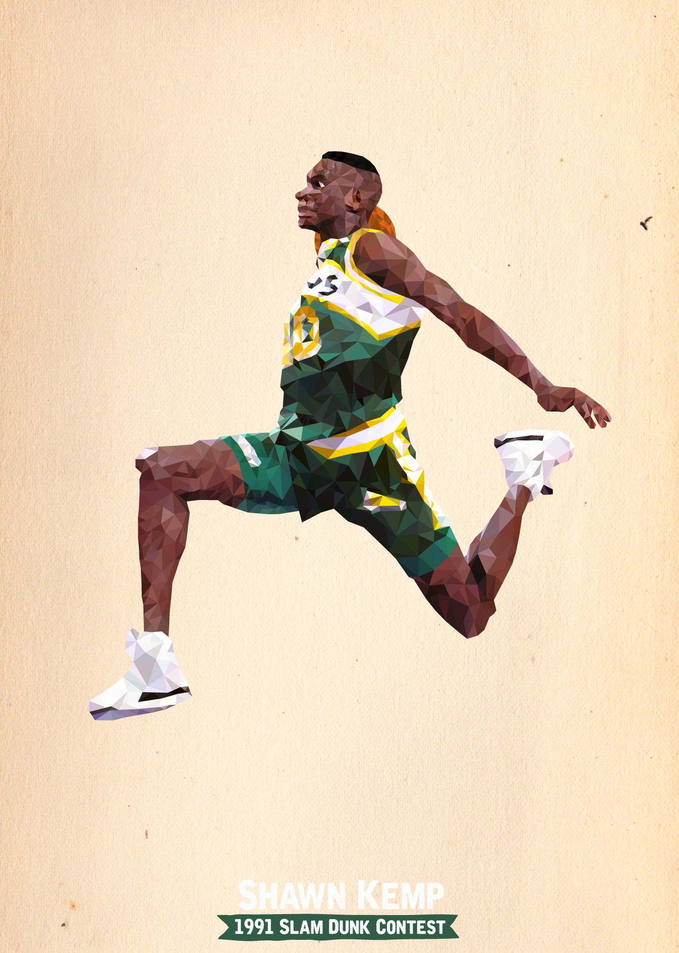 Shawn Kemp 1991 Slam Dunk Contest On Behance