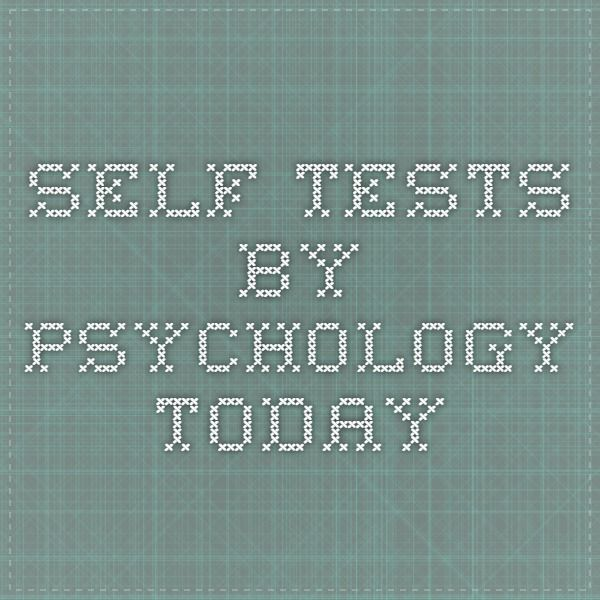 Self Tests by Psychology Today | Stress management skills ...