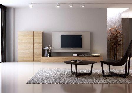 Mueble de sal n en madera clara salones pinterest for Mueble bano madera clara