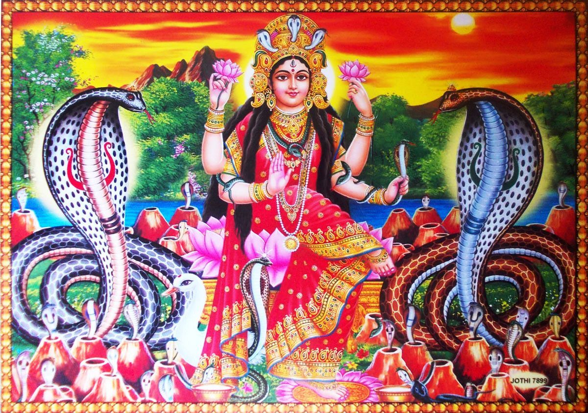 The snake charming angel - Manasa Devi