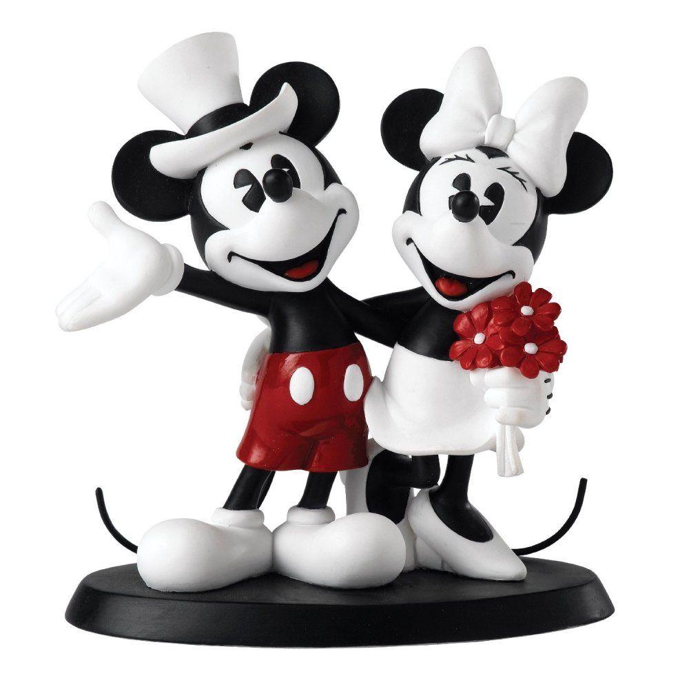 Disney mickey and minnie wedding figurine mickey and