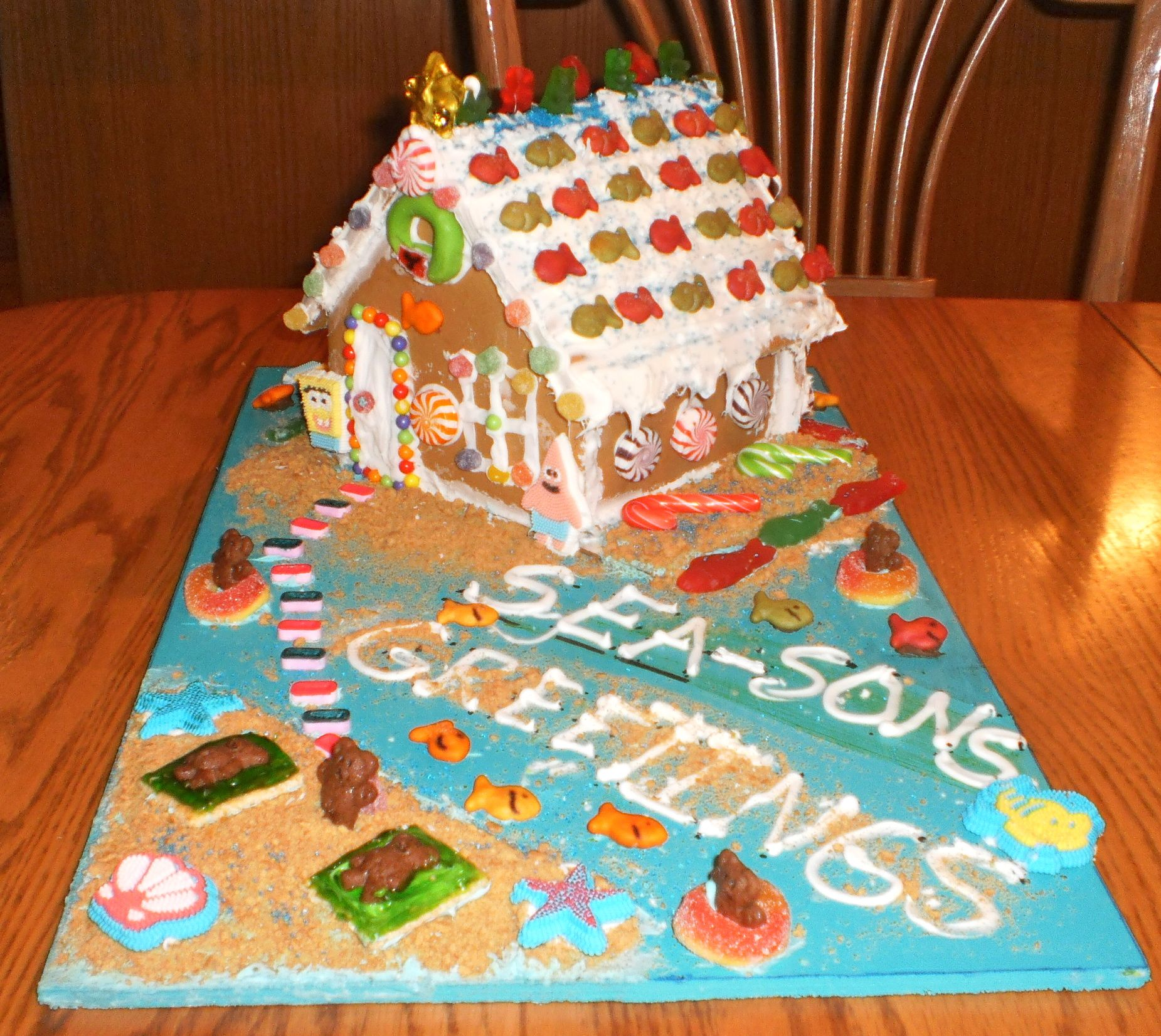 Beach Themed Gingerbread House: A Gingerbread House Kit, With A Twist. Nautical, Under The