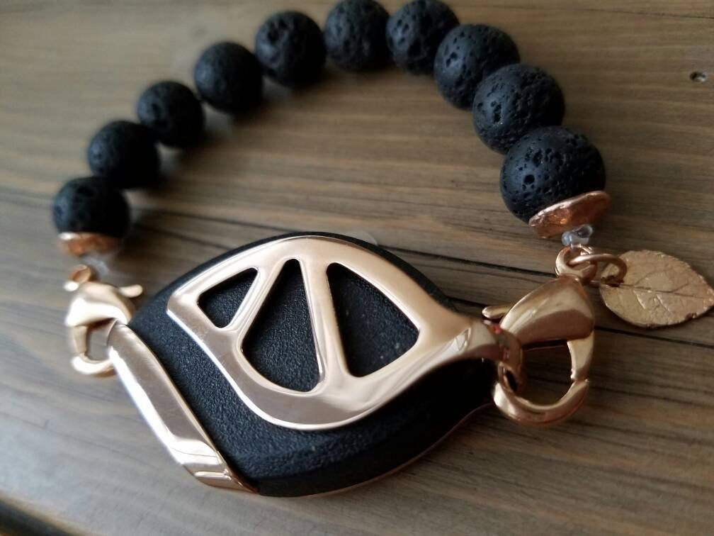 Bellabeat Urban Leaf Rose gold Accessory Black and Rose by