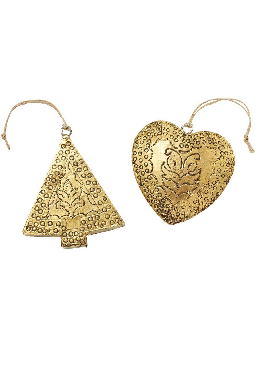 Metal heart ornaments - Ezibuy Christmas Shop Metal Heart Ornaments Set Ezibuy New Zealand