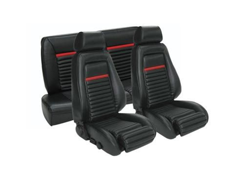 1987 89 Mustang Convertible Black Vinyl Mach 1 Style Seat Upholstery