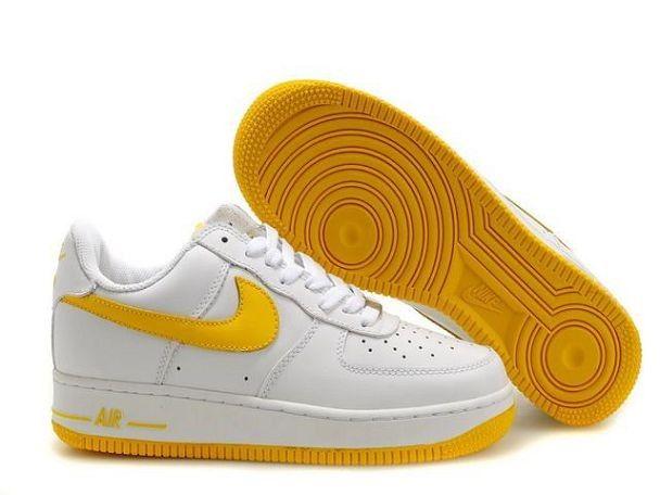 nike air force 1 blanc jaune